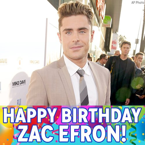 Happy Birthday, Zac Efron! The Neighbors and High School Musical star is celebrating today.