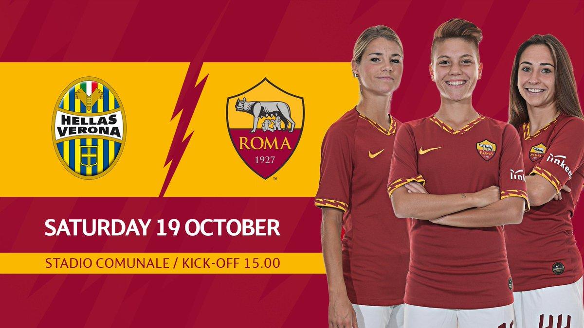 💪🐺 Domani alle 15:00 torniamo in campo in casa del Verona! 💛❤️ #ASRomaFemminile