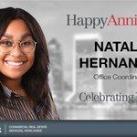Image for the Tweet beginning: Happy Work Anniversary to Natalia