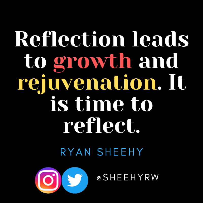 Without reflection, no growth happens. It's time to reflect as a person and as a professional. #BeTheOne