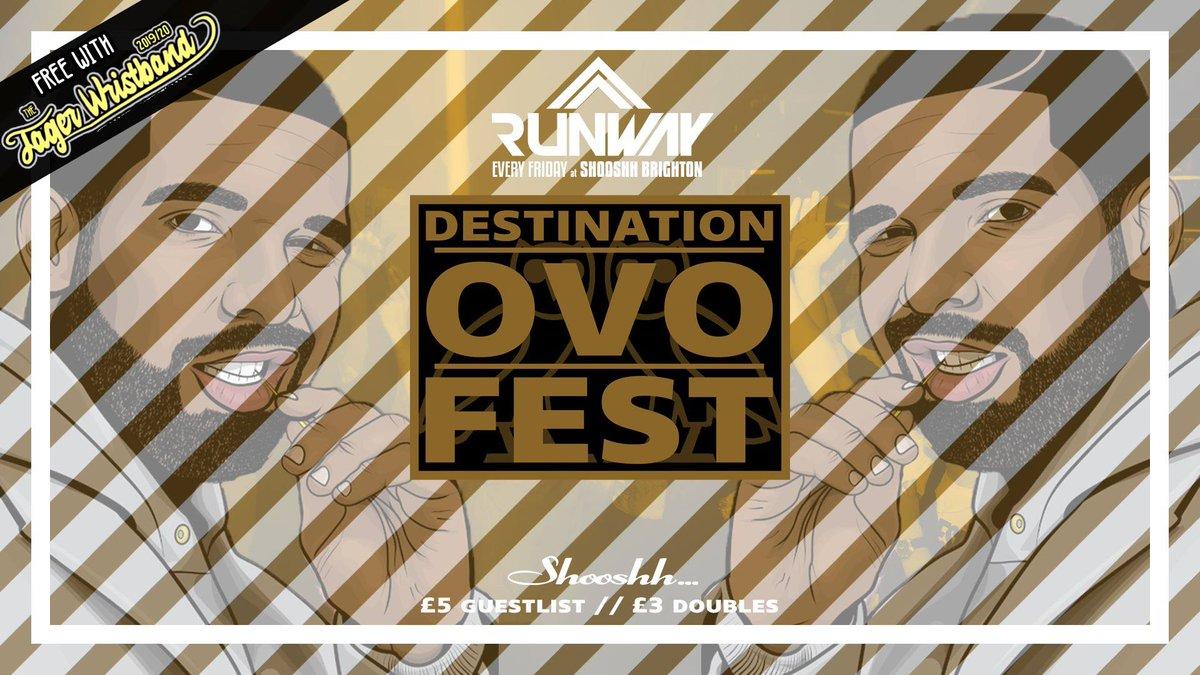 TONIGHT TONIGHT TONIGHT!!!@RunwayFriday  Destination: OVO Fest / Free on Jager Wristband