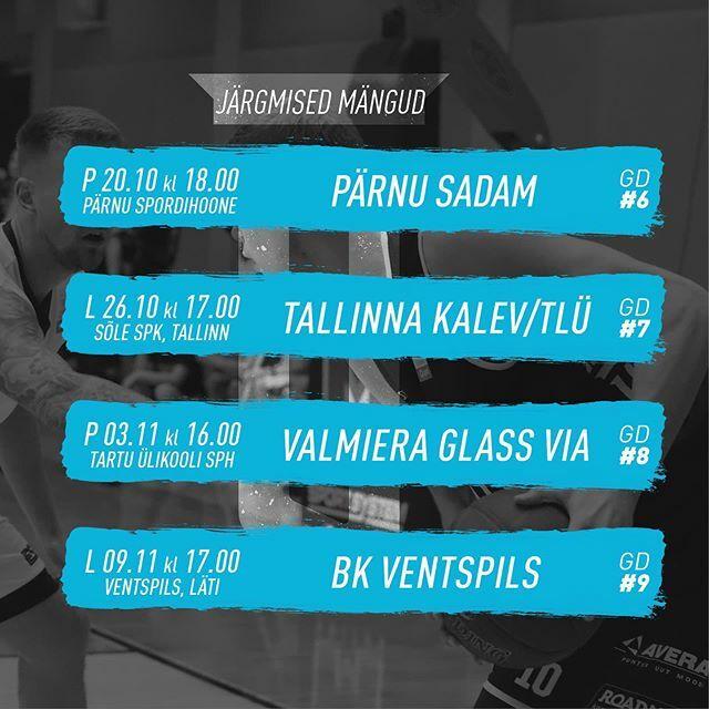 test Twitter Media - Järgmistes @paflatestbl  mängudes ootavad meid ees: 🗓 GD6 - pühapäeval 20. oktoobril kell 18.00  @parnukorvpall / Pärnu spordihoone 🗓 GD7 - laupäeval, 26. oktoobril kell 17.00 @kalevtlu / Sõle spordikeskus 🗓 GD8 - pühapäeval, 3. novembril kell 16.00 … https://t.co/6MosNMEIDF https://t.co/KaXjnUMIBl