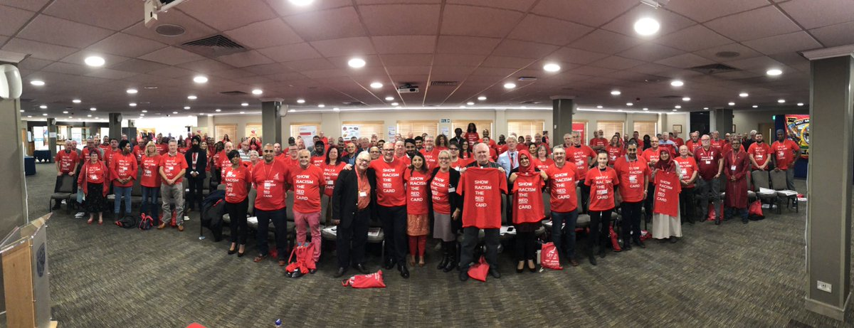 What an amazing group of people! Reps from across the region coming together at our #UnityOverDivision conference and showing their support for @SRTRC_England on #WRD19