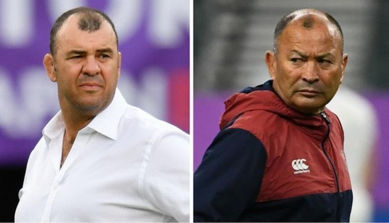 test Twitter Media - Michael Cheika and Eddie Jones shared the same dressing room as players at Randwick; now they go head-to-head in a World Cup quarter-final. 🏴🏉🇦🇺  In full: https://t.co/81ftWGDPXF  #ENGvAUS #bbcrugby #RWC2019 https://t.co/JinZwMypps