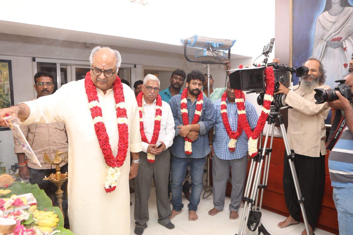 With the blessings of @SrideviBKapoor Madam, The pooja of #AK60 , hence forth titled #Valimai happened in Chennai today. A @ZeeStudios_ @BayViewProjOffl presentation. @BoneyKapoor #HVinoth #DOPNirav @thisisysr @DoneChannel1 https://t.co/8rnbpXOlAn