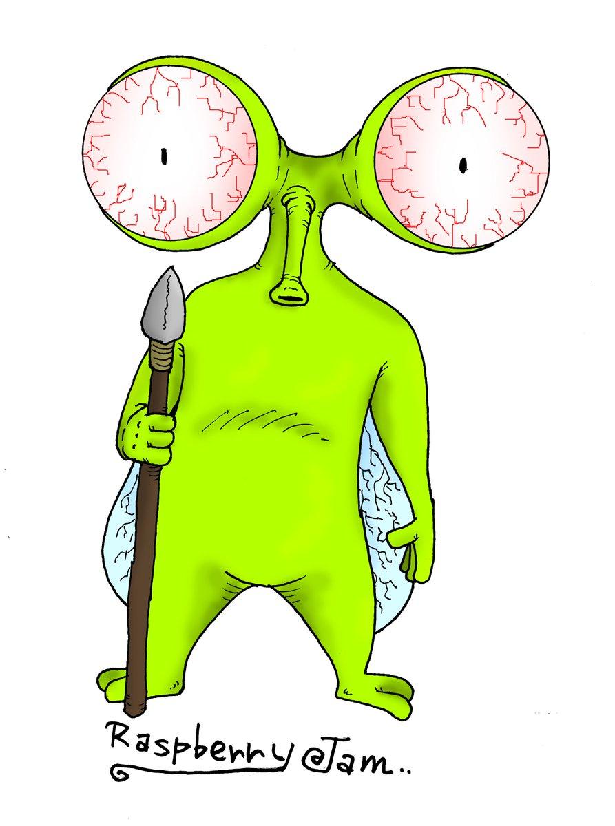 蟲の様な宇宙人的な「ゴメス」 #イラスト基地 #イラスト発見 #絵描きさんと繋がりたい #イラスト描いた https://t.co/W1EtJtjE1G