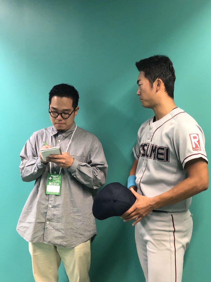 元氏(平安-立命館大)の有言実行。涙が出そうになった。原田監督の期待にもしっかり応えた。大学野球全日本選手権、敗退後に語った悔しさを胸にして秋に向けてしっかり準備して強い気持ちで挑んだことでしょう。ようやった!!!すごいよ!!!おめでとう!!!
