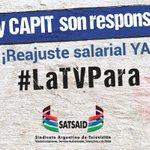 Image for the Tweet beginning: #LaTVPara Reajuste salarial ya!!! No