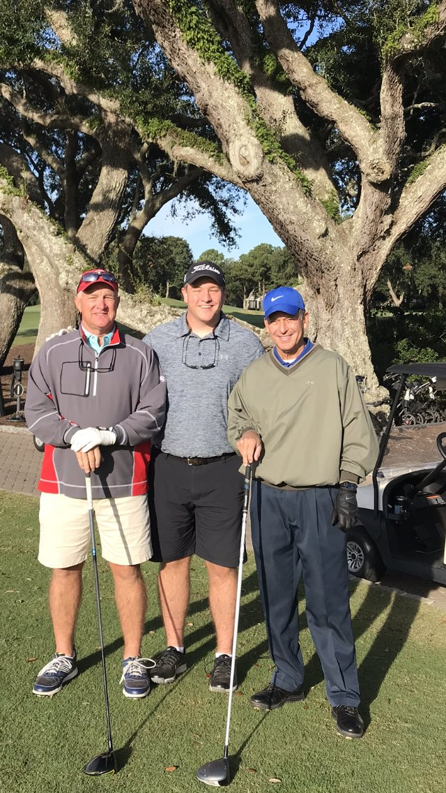 Starting in the office today.........at The Country Club of Charleston. With Richard and Colin Packert.