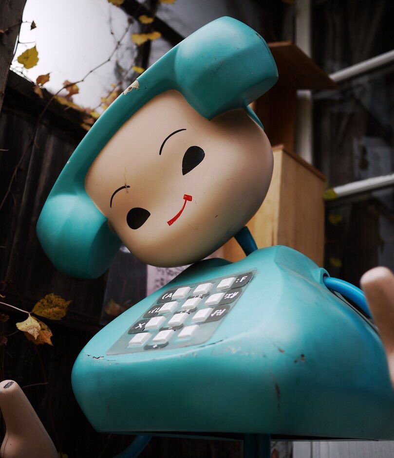 A human/telephone hybrid named Teleco-chan was the mascot for the Japanese phone company NTT in the '70s.
