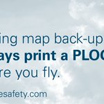 Image for the Tweet beginning: Moving map back-up?   Always print