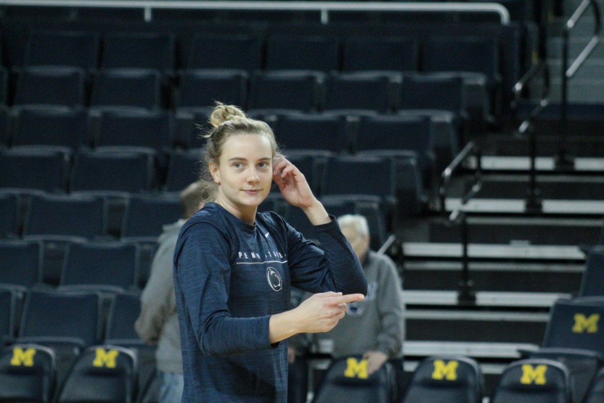 Gameday practice sights from the Crisler Center!