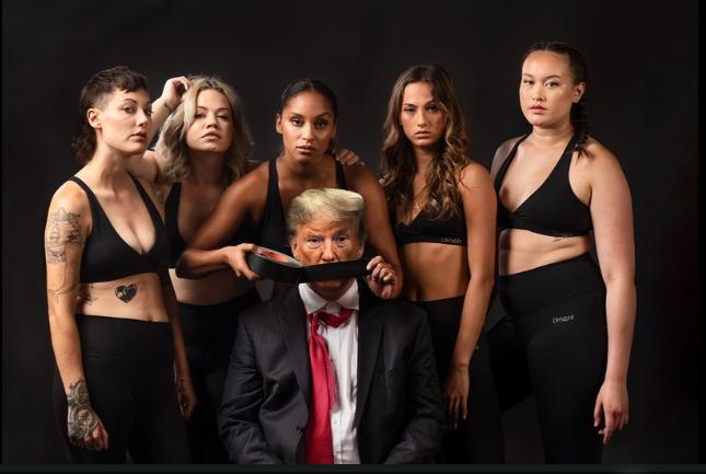 Women gagging President Trump