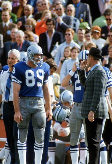 Happy 80th Birthday to Mike Ditka Here with Tom Landry, Super Bowl V