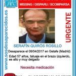 Image for the Tweet beginning: #TeBuscamos Serafín Quirós Rosillo, 57