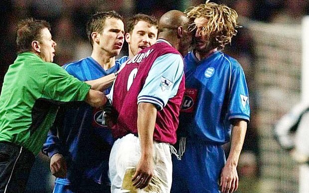 Happy birthday to Robbie Savage Here s the legend being headbutted by Dion Dublin