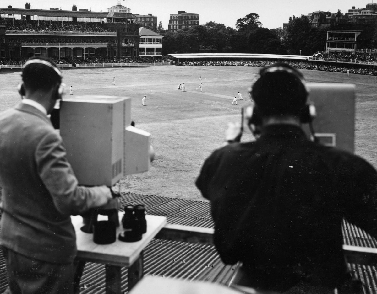 Lord's Cricket Ground, St. John's Wood, London - 1930s and 2019 @HomeOfCricket #Lords #Cricket #London #television
