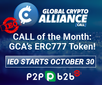 10月30日に!#OCTOBER 30 Start ?FIRST #ERC777 Token #IEO #CALL#コール(仮想通貨)IEO (取引所コイン公開)  ➡️ 世界初の #ERC777 #Ethereum #イーサリアム#GlobalCryptoAlliance @GlobalCryptoAll#InitialExchangeOffering #ICO #IPO #Crypto #Blockchain #ETH