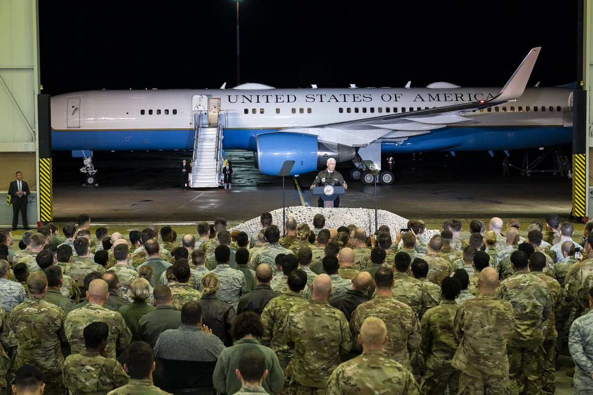 Thank you to the amazing men and women who wear the uniform of the United States at Ramstein Air Base in Germany! I was honored to stop by and meet you all last night to express our Nation's gratitude for your service!