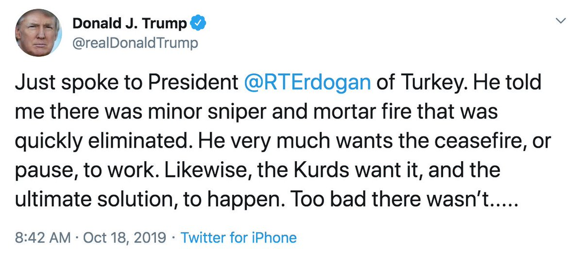 """Trump just used the term """"ultimate solution"""" while discussing Turkey's forced migration & Genocide of the Kurdish People. This terminology is deliberate & premeditated — remarkably similar to the term, """"Final Solution"""", the Nazi plan for the genocide of Jews during World War II."""