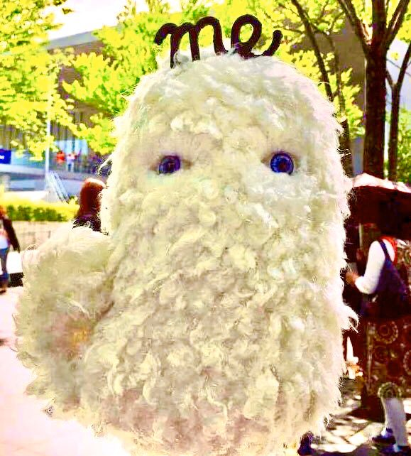 A ghostly,fluffy wave named J-me is the mascot of the Tokyo radio station, J-WAVE.