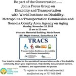 Image for the Tweet beginning: TRACS Transport and Disability Focus
