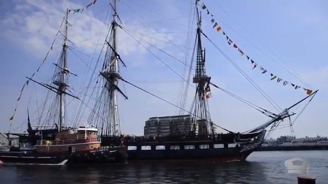 Happy birthday, beautiful 🎂 Today, the @USSConstitution turns 222 years old! On this special day, take a look back at the 4th of July festivities in Boston Harbor when 500 passengers were chosen to ride Old Ironsides. #KnowYourMil