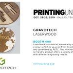 Image for the Tweet beginning: .@GravotechUSA is showcasing its LaserWood