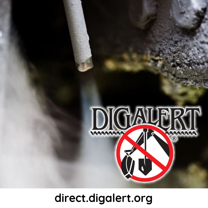 "#DigAlert Safety Tip:  Be aware of signs of a natural gas leak.   Smell for a ""rotten egg""…"