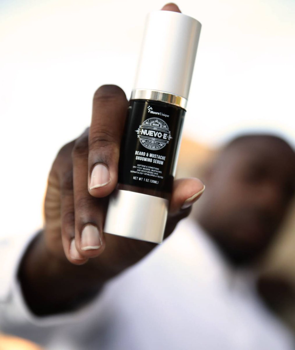 Finally! A #beardserum tailor-made for men of all skin types. Introducing Nuevo-E Beard Grooming Serum. http://bit.ly/nuevo-epic.twitter.com/AOYrtLLxpL