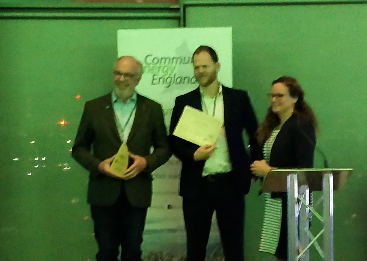 We are delighted to have won the #CommunityEnergy Finance award. Proud of our team 👏 #CEAwards19