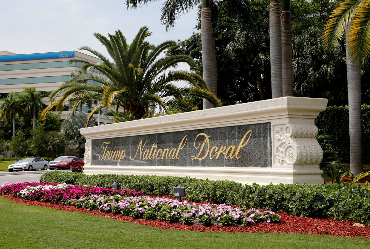 Good news if you're @realDonaldTrump   In preparation of the G7 Summit, the taxpayers will foot the bill for the remodeling of the Trump Doral Club.   #DonaldTrump #Trump #TrumpLies #TrumpIsACriminal #TrumpIsAFelon #TrumpImpeachment #TrumpIsADisgrace #TrumpIsAFraud #Resistance