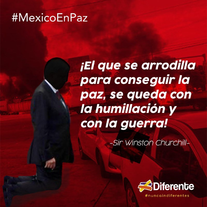 #MexicoEnPaz #Culiacan #Sinaloa #EstadoFallido #Diferente #NuncaIndiferentes https://t.co/cfeCQWjjB2