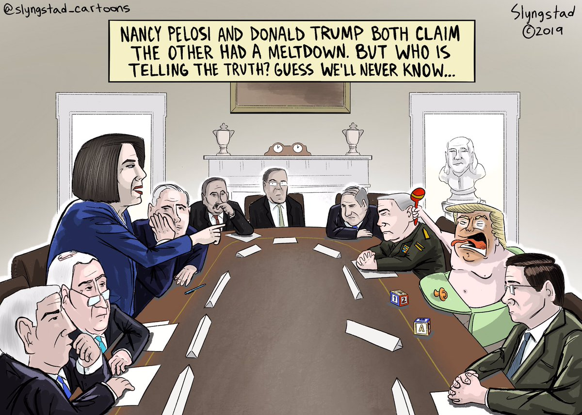 "This ""meltdown"" photo is amazing. #TrumpMeltdown #Meltdown #MeltdownDonnie #PelosiMeltdown #NancyPelosi @SpeakerPelosi @realDonaldTrump"
