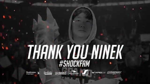 We are thankful for everything @NineK_OW helped us achieve across both @NRGgg and SF Shock 🧡