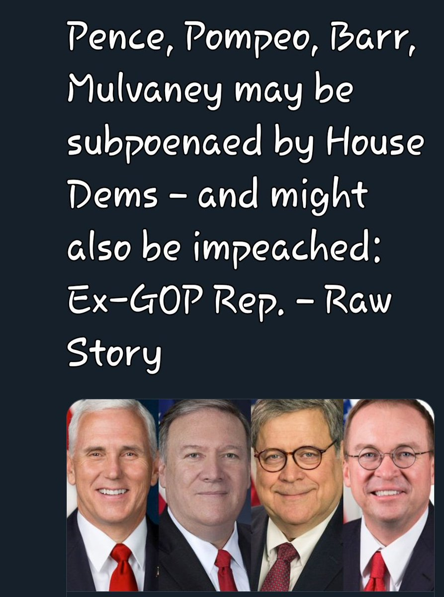 Of course!! Mike's 💩ing in his pants.. #PompeoMeltdown #TrumpMeltdown #MulvaneyMeltdown #ImpeachAndRemoveTrumpNOW