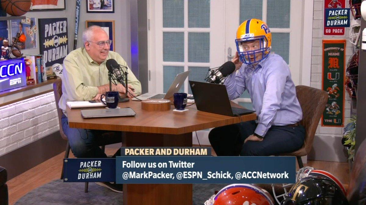 The Schick Factor 💪 @ESPN_Schick picks @Pitt_FB to win the ACC Coastal on #PackerAndDurham