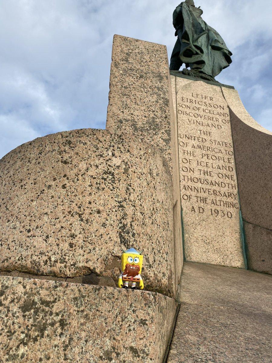 @Kidrobot hinga dinga durgen! Can you believe @SpongeBob made it all the way to Iceland for Leif Erikson Day?! #leiferiksonday #spongebob