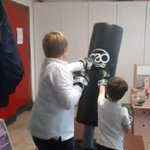 Image for the Tweet beginning: Some pupils getting some boxercise