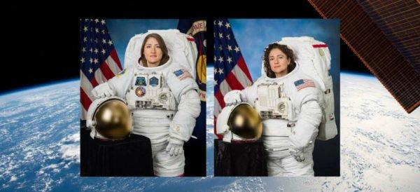 Realizan la primera caminata espacial con solo mujeres http://ow.ly/cStX30pK117