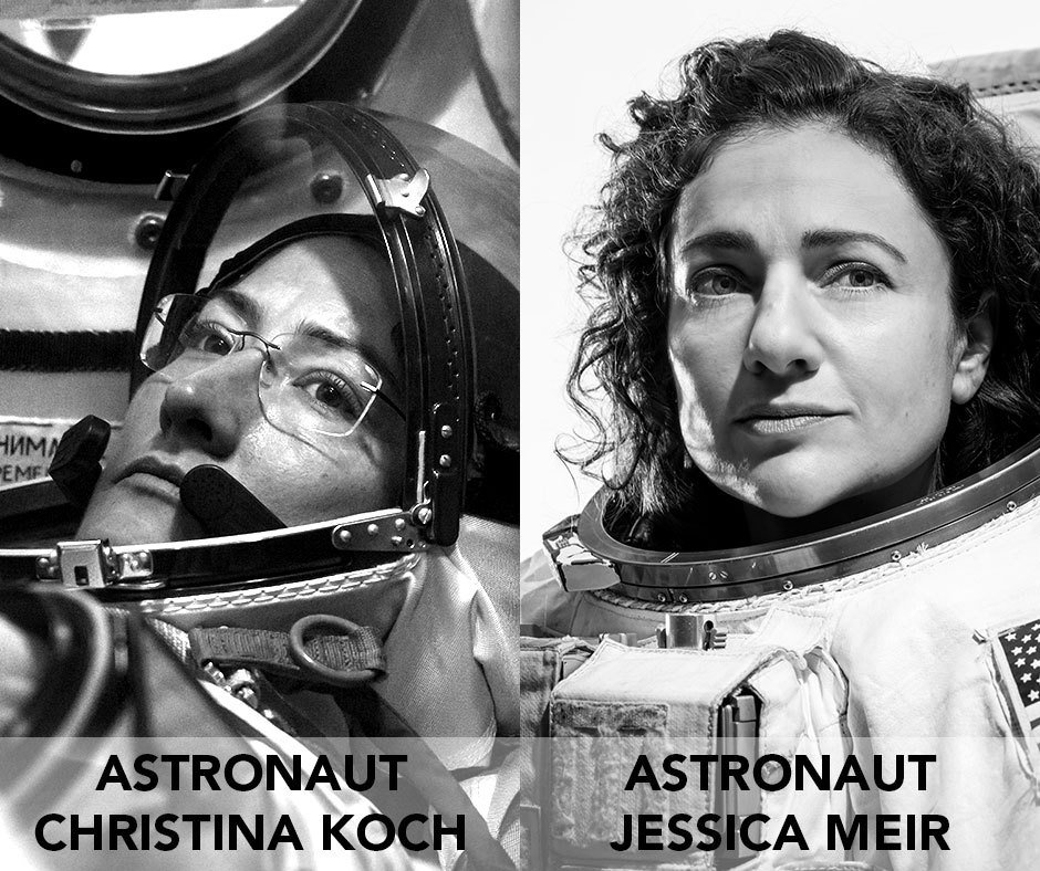 Today, @NASA_Astronauts and best friends @Astro_Christina and @Astro_Jessica embarked on the very first #AllWomanSpacewalk outside the @Space_Station to swap out a failed power controller! Learn more about the astronauts who made history today: go.nasa.gov/31tPyoi