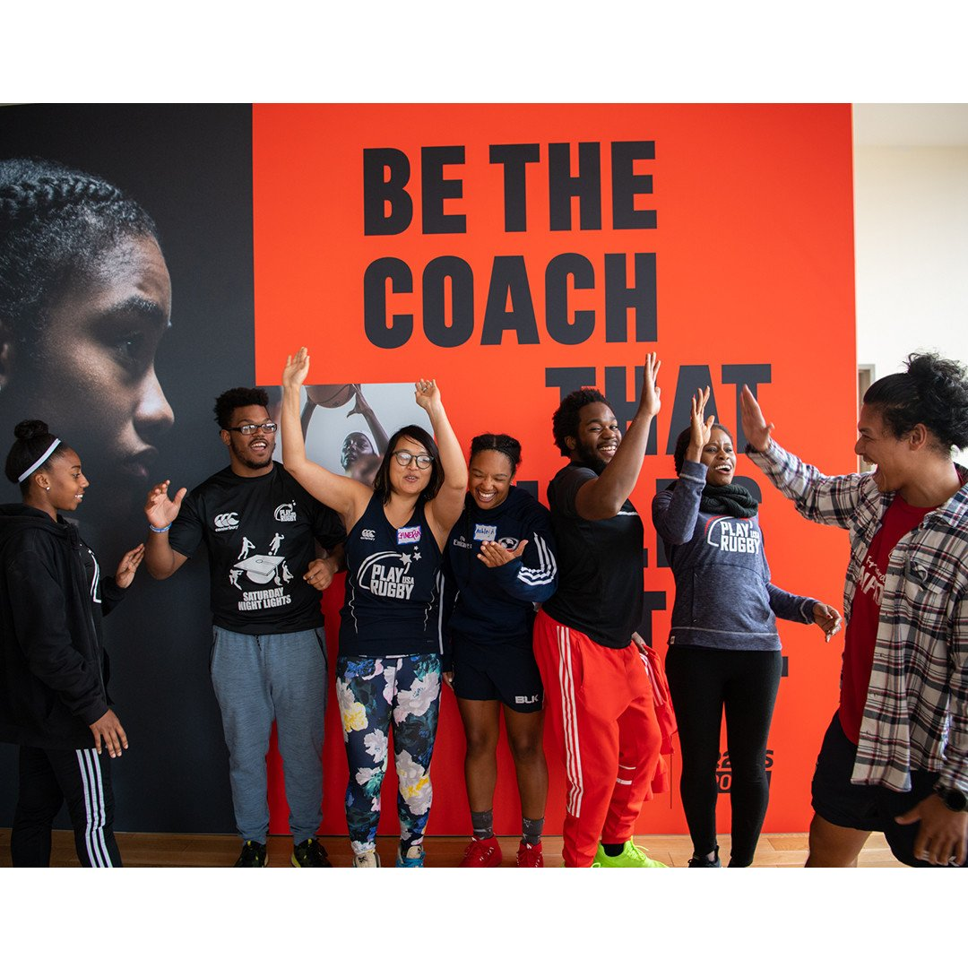 Thank you @adidasUS & @Up2UsSports for She Breaks Barriers Coaching Clinic at @MannyCantorNYC. ♀️💪We learned so much from female sports leaders, @WNBAs @Nnemkadi30 🏀 & @RUSoftballs @CoachButler12. 👧🏻👧🏼👧🏽👧🏿❤️ #girlsrugby #wrugby #TryAndStopUs #coaching #goforward