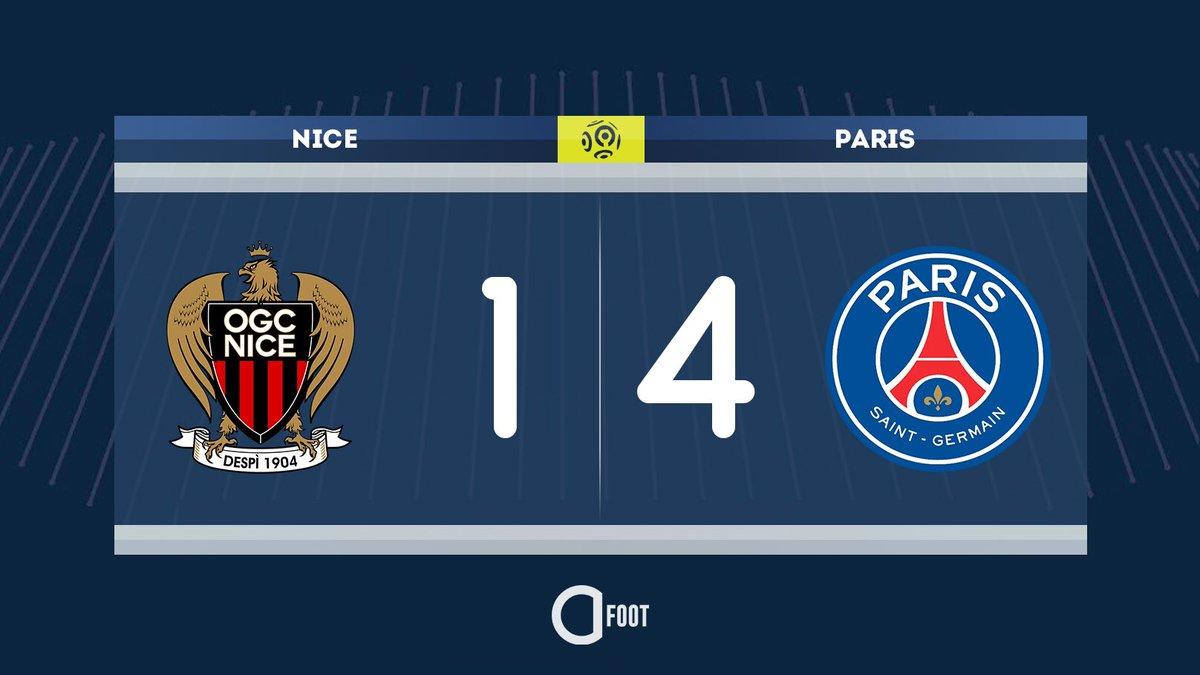 ⏱ TERMINÉ ! NICE 1-4 PARIS Les Parisiens s'imposent grâce à un doublé de Di Maria, un but de Kylian Mbappé et un dernier d'Icardi.