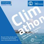 Image for the Tweet beginning: Climathon Honolulu 2019 is coming!