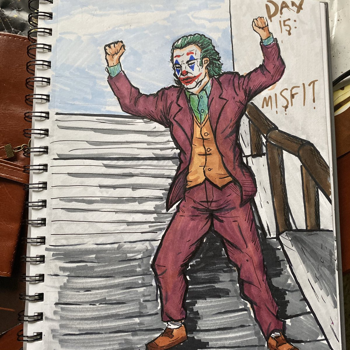RT @ApexArtsIG: #inktoberday18: Misfit - - - #joker #jokermovie #inktober #comicart #inktober2019 #art https://t.co/um5D3EKpwk