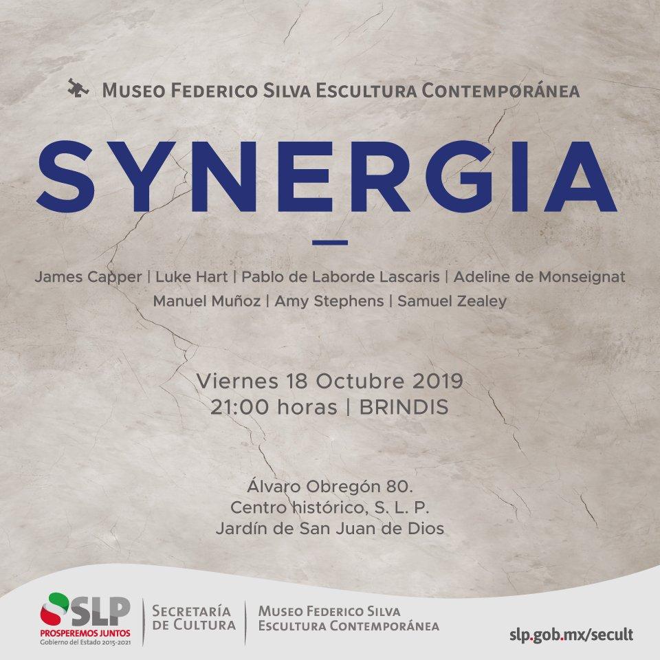 ¡No te quedes en casa! Te invitamos HOY a la inauguración de #Synergia en el Museo Federico Silva Escultura Contemporánea, la cita es a las 21:00 horas. Entrada Libre.