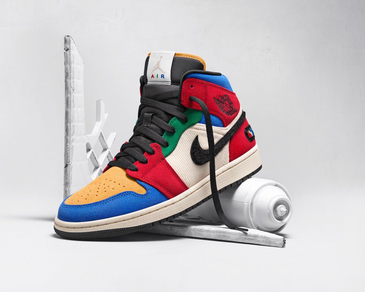 """Words can't describe how excited I am. Designed my own Air Jordan 1 which is a part of the """"Fearless Ones"""" Collection. Ive been making art for a really long time and it feels amazing to see all the hours paying off.  Shoutout to @jumpman23."""