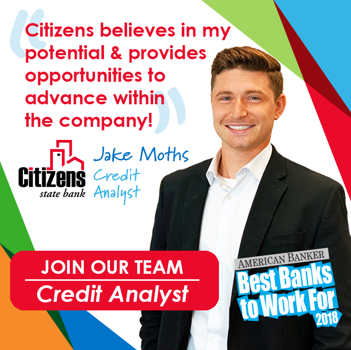 NEW OPPORTUNITY:  Now hiring a Credit Analyst at our La Crosse office! Click here to learn more about the #CitizensExperience and see all of our amazing opportunities today! https://t.co/yPuJQYRErS #jobs #employment #nowhiring #finance https://t.co/vLendKaOoy