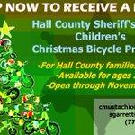 Image for the Tweet beginning: HCSO Christmas Bicycle Program sign-up
