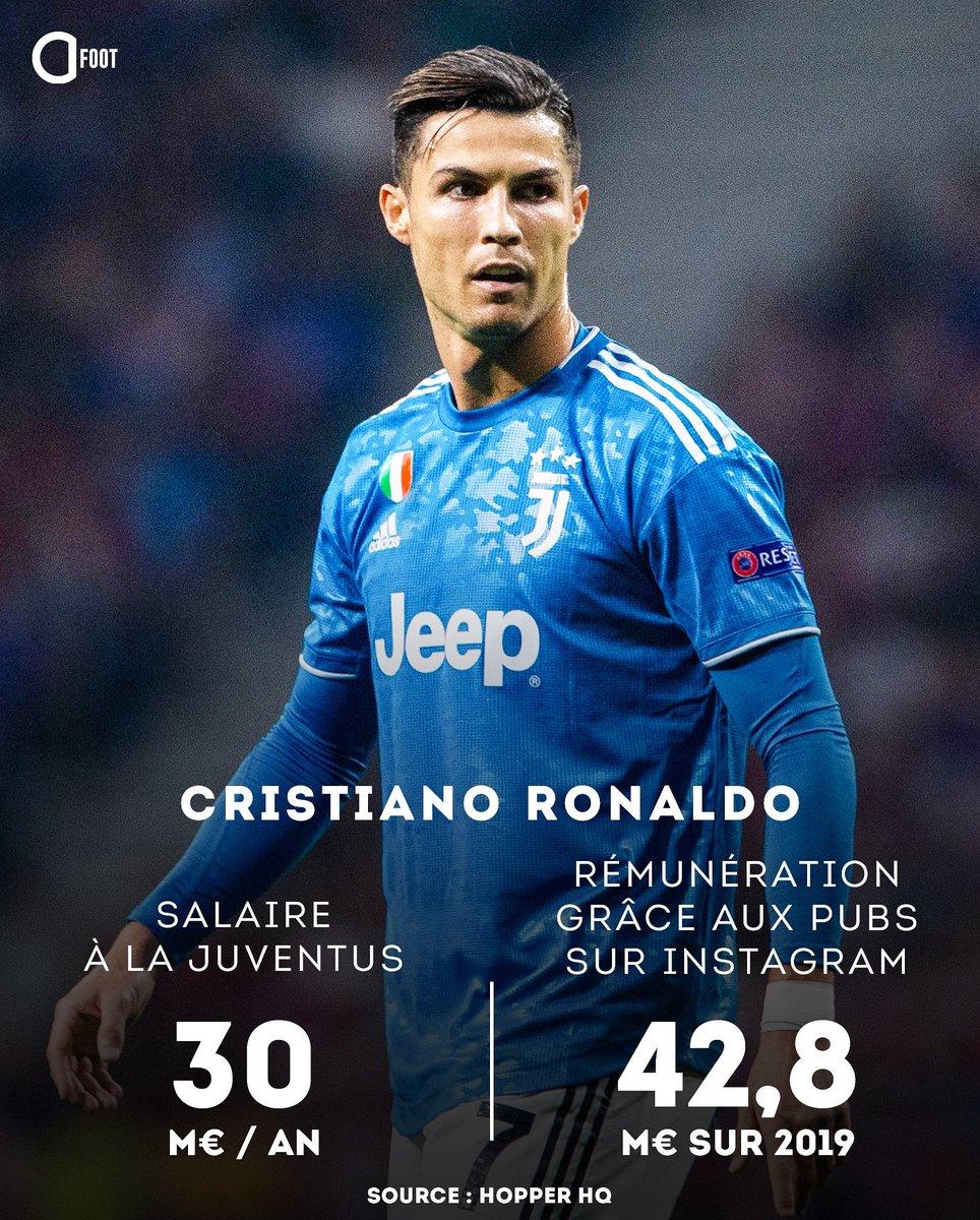 CR7 est mieux rémunéré grâce à Instagram que par la Juve. 👀